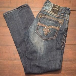 Rock Revival Victor Straight Dark Wash Jeans 32x34